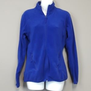 Xersion blue zip up fleece sweatshirt size small